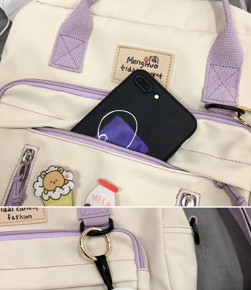 Egirl Soft girl Lovely Multifunctional Backpacks 51
