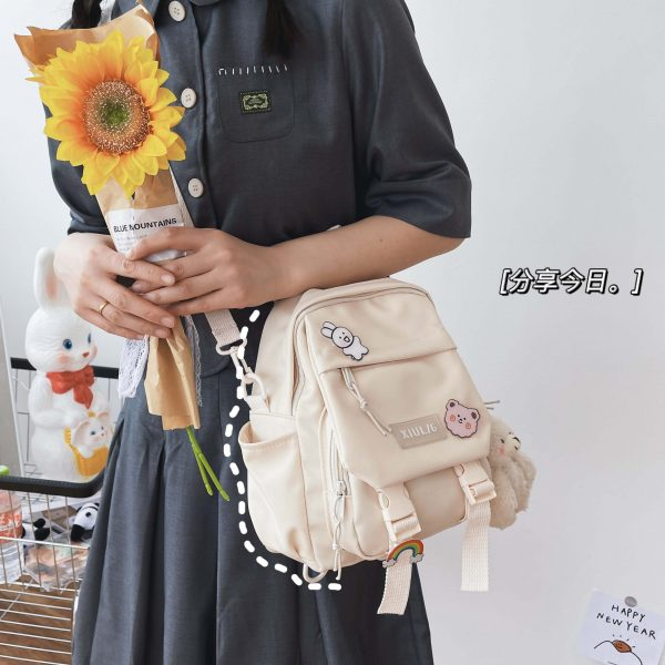 Soft girl small cute Backpack 2