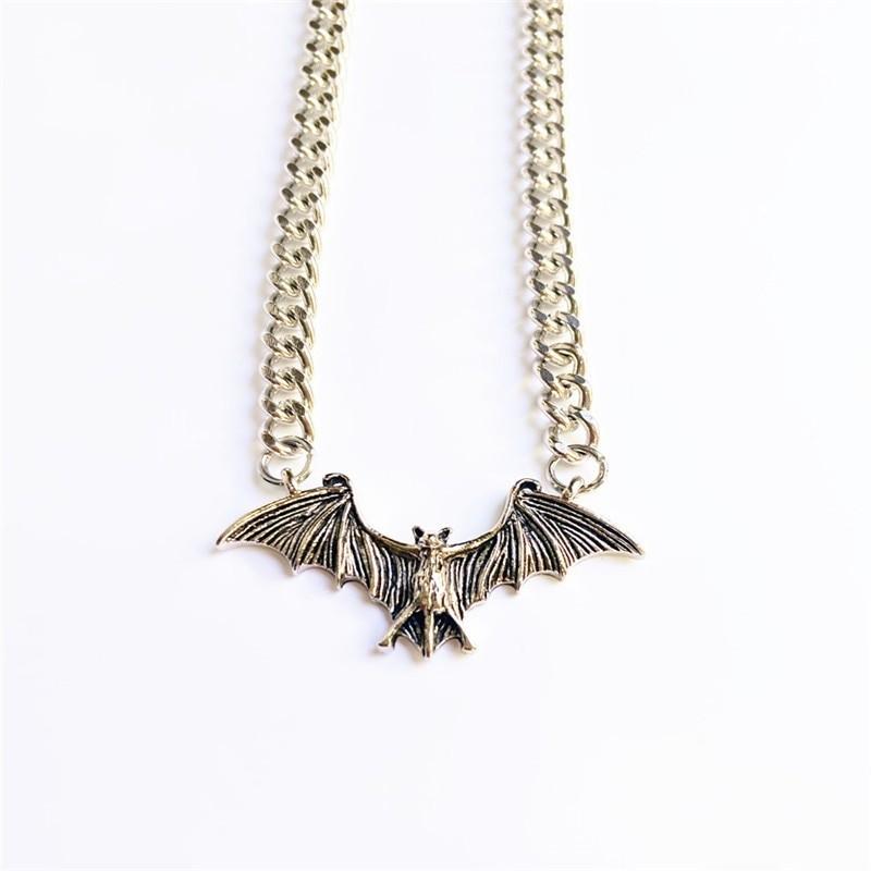 Gothic Egirl Eboy Bat Chain Necklace 46