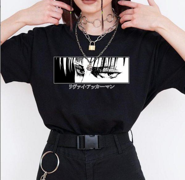 Egirl Harajuku anime Attack on Titan T-shirt 1