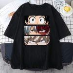 Harajuku T-Shirt with My Hero Academia Anime print 1