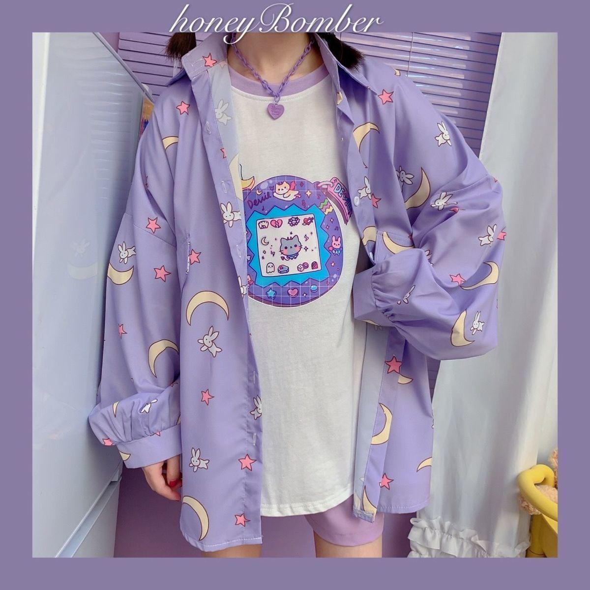 Harajuku Soft Girl Oversized T-shirt 46