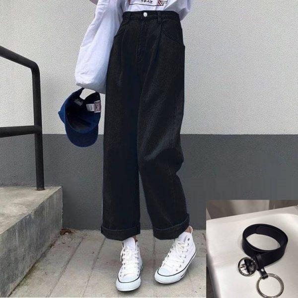 Egirl Y2K High Waist Wide Leg Jeans 7