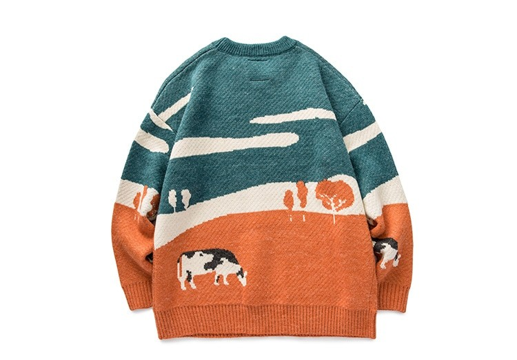 Eboy Egirl Y2K Vintage Cows print Sweaters 44