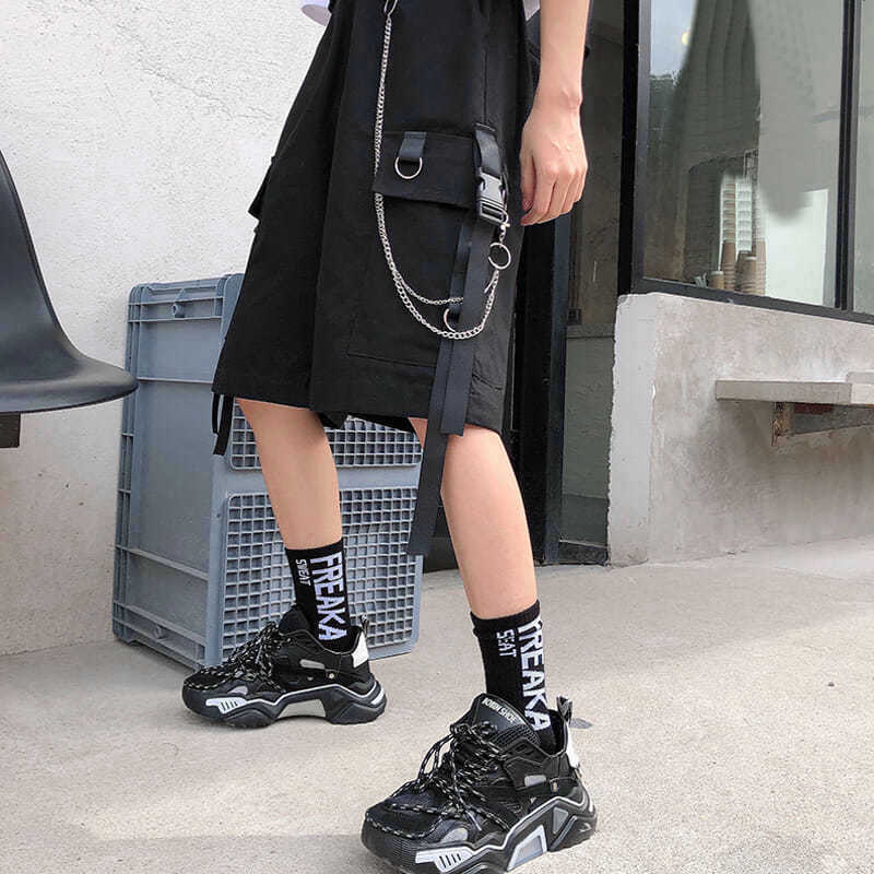 Eboy Egirl Shorts with straps and chain 44