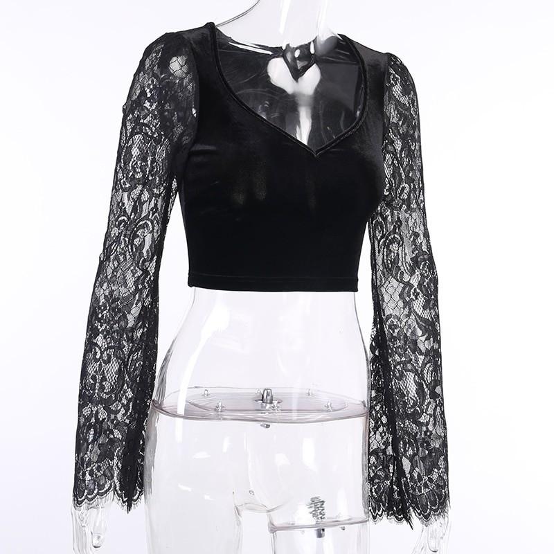 Egirl Gothic Velvet Lace Top 48