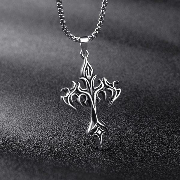Egirl Eboy Punk Chain Necklace with Cross Pendant 3