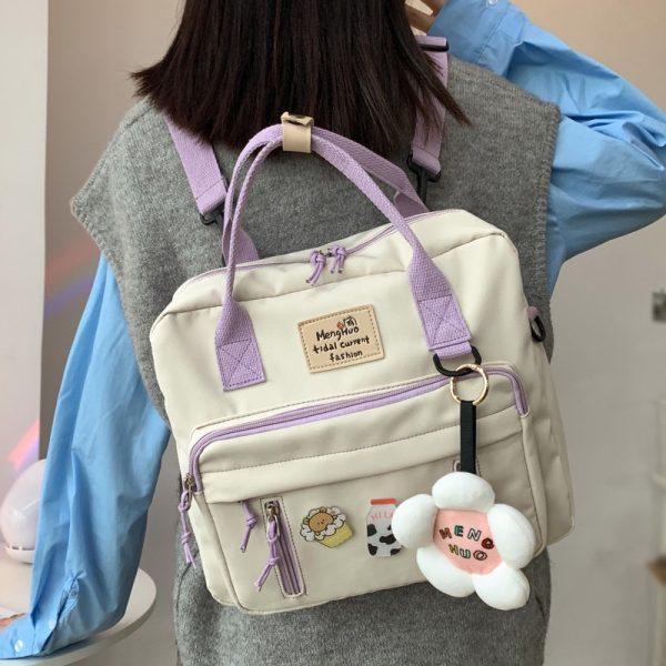 Egirl Soft girl Lovely Multifunctional Backpacks 1