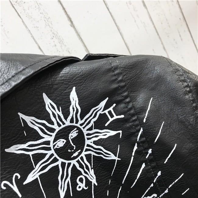Punk Gothic Egirl Faux Soft Leather Jacket 52