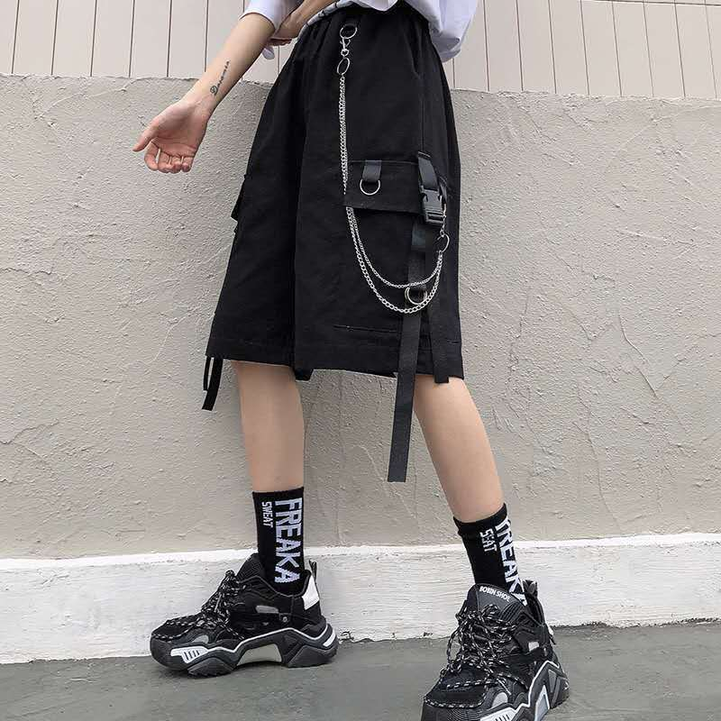 Eboy Egirl Shorts with straps and chain 42
