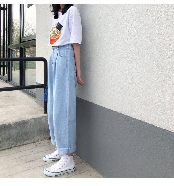 Egirl Y2K High Waist Wide Leg Jeans 14