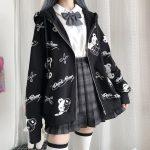 Harajuku Egirl Gothic Hoodies with bear print 5