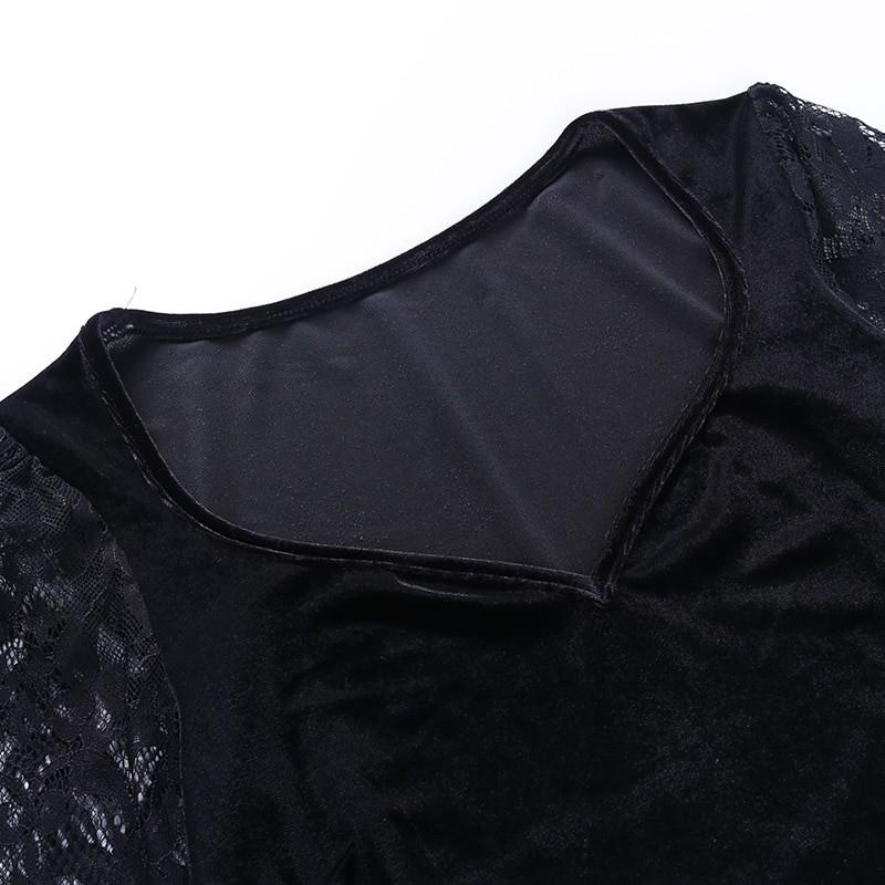Egirl Gothic Velvet Lace Top 50