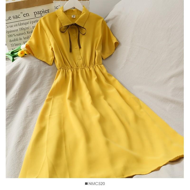 Harajuku Soft girl Chiffon  Dress with Bow 45