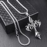 Egirl Eboy Punk Chain Necklace with Cross Pendant 2