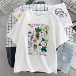 Gothic Harajuku T-shirt with vintage herbology print 3