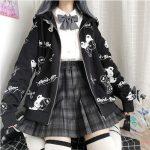 Harajuku Egirl Gothic Hoodies with bear print 6