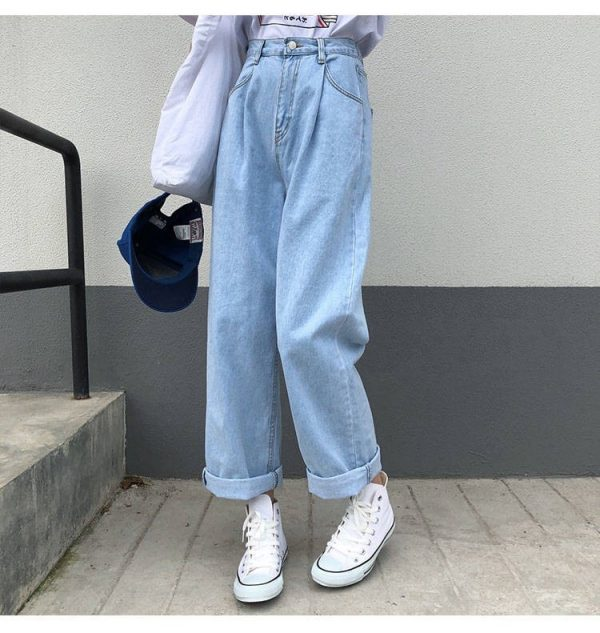 Egirl Y2K High Waist Wide Leg Jeans 3