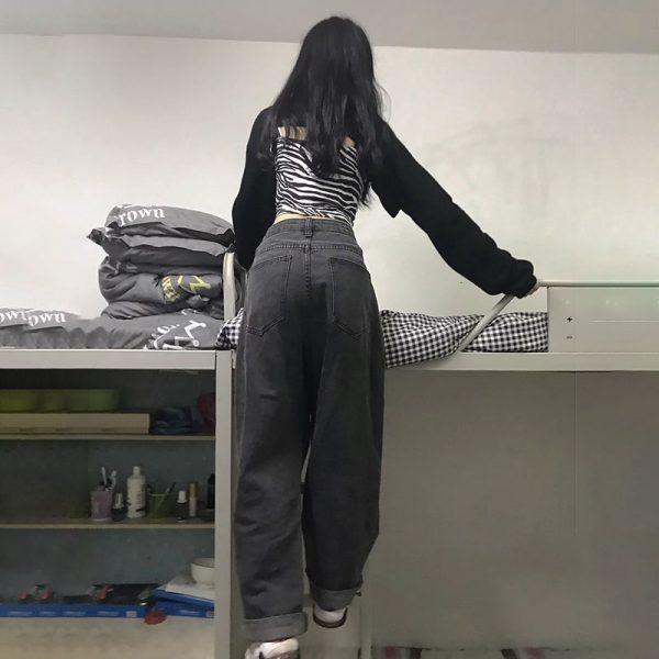 Egirl High Waist Oversized Jeans with Wide Legs 4