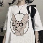 Gothic Sphynx Cat T-Shirt 3