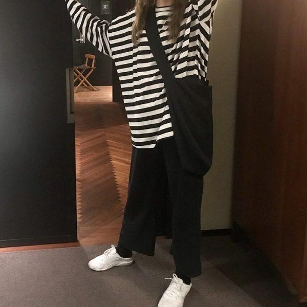Egirl Harajuku Oversized Striped T-shirt 5