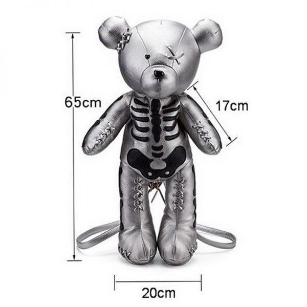 Egirl Eboy Gothic Skeleton Bear Backpack  6