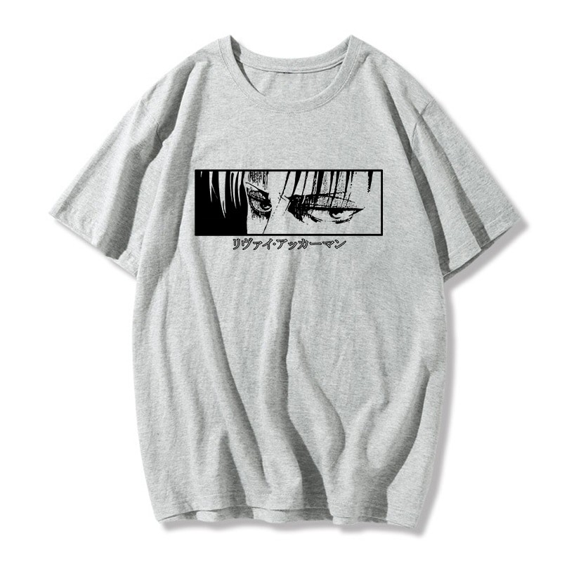 Egirl Harajuku anime Attack on Titan T-shirt 5