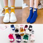 3D eyes Funny Socks Harajuku kawaii style 3