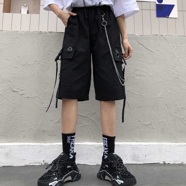 Eboy Egirl Shorts with straps and chain 2