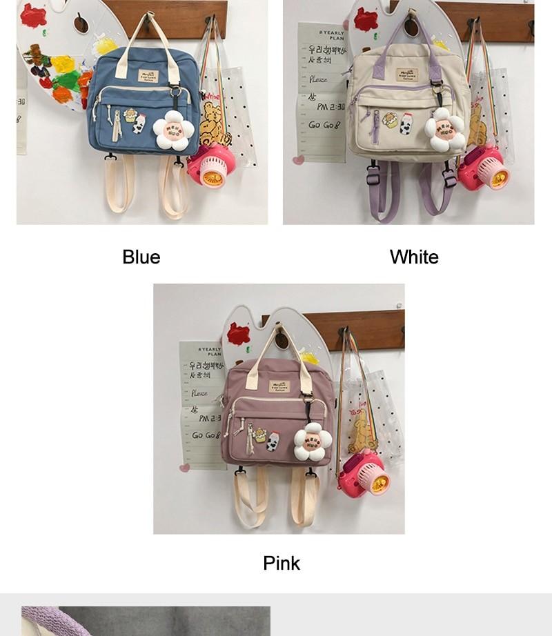 Egirl Soft girl Lovely Multifunctional Backpacks 43