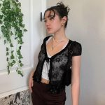 Soft girl Y2K Lace Crop Top 26