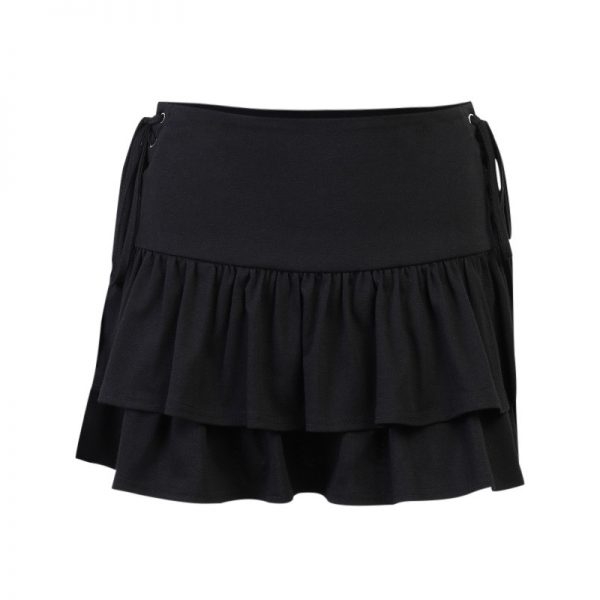 Gothic Skirt with High Waist and Bandage 5