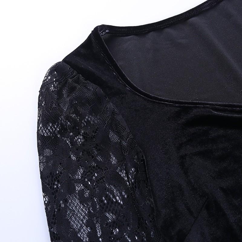 Egirl Gothic Velvet Lace Top 52