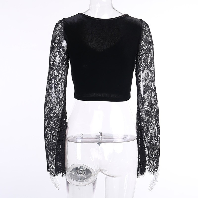 Egirl Gothic Velvet Lace Top 49