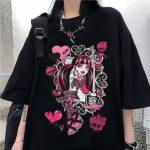 Harajuku cartoon print T-shirt 1