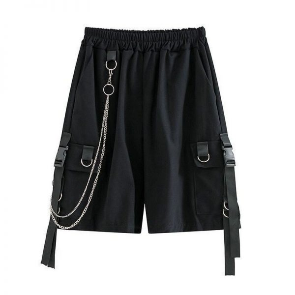 Eboy Egirl Shorts with straps and chain 1