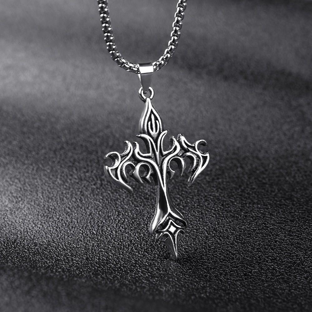 Egirl Eboy Punk Chain Necklace with Cross Pendant 45