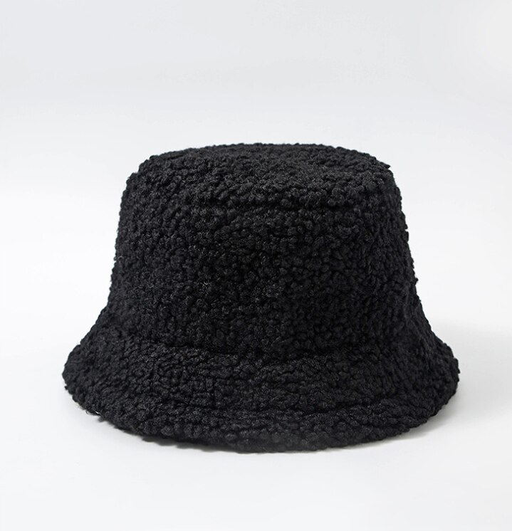 Harajuku Faux Fur Winter Bucket Hat 50