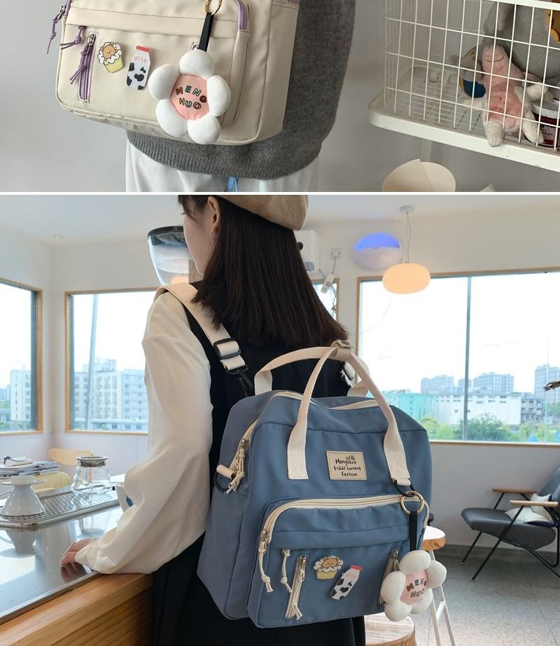 Egirl Soft girl Lovely Multifunctional Backpacks 46