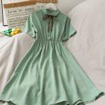 Harajuku Soft girl Chiffon  Dress with Bow 2