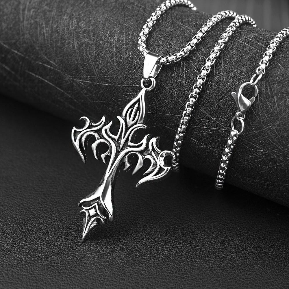 Egirl Eboy Punk Chain Necklace with Cross Pendant 43