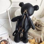 Egirl Eboy Gothic Skeleton Bear Backpack  3