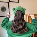 Fashion Knitted Frog Hat 5