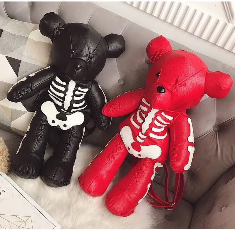 Egirl Eboy Gothic Skeleton Bear Backpack 43