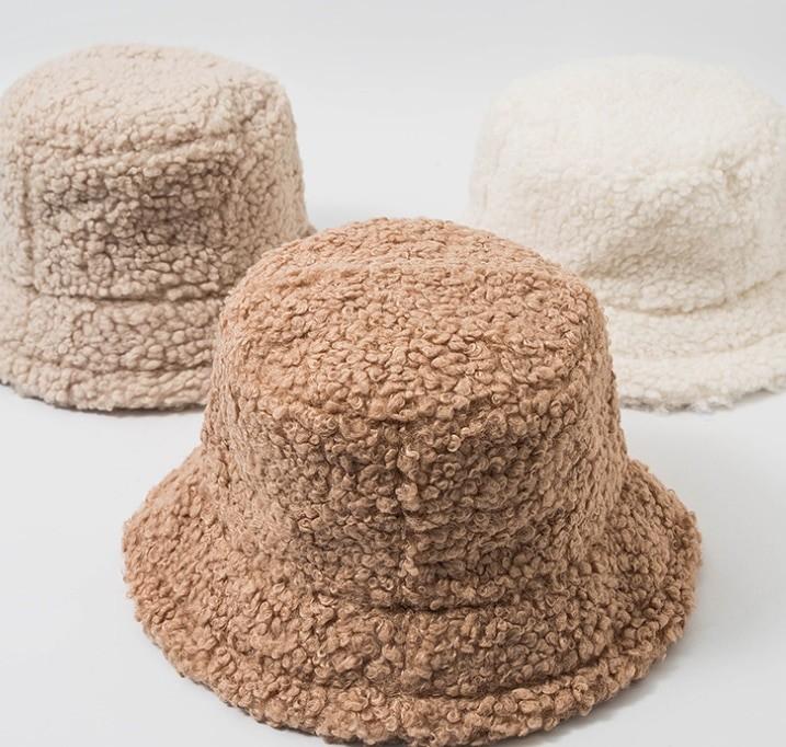 Harajuku Faux Fur Winter Bucket Hat 42