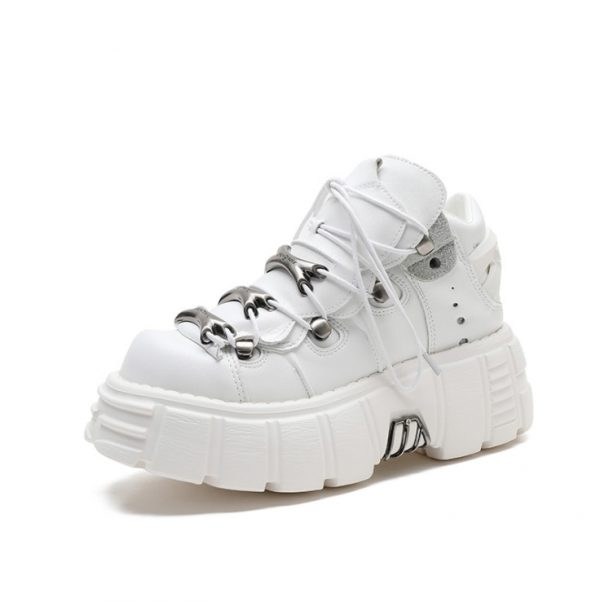 Punk Style Women Sneakers with Metal Decor 3