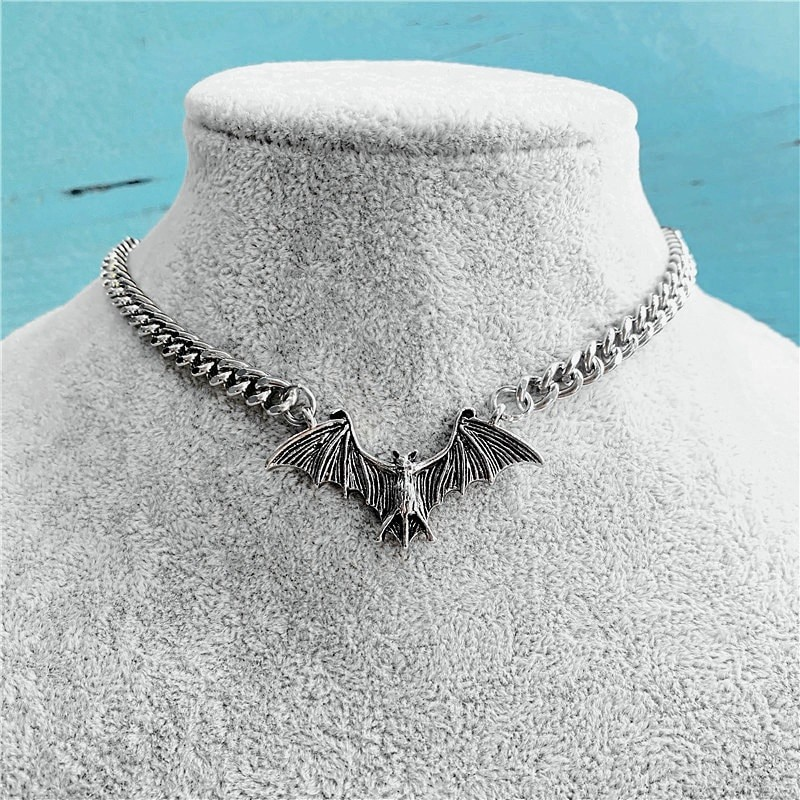 Gothic Egirl Eboy Bat Chain Necklace 41