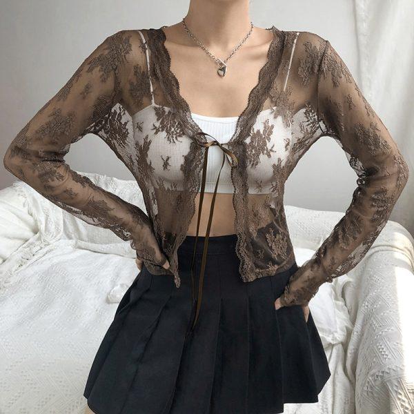 Soft girl Y2K Lace Crop Top 30