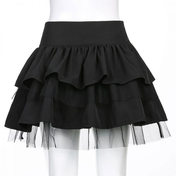 Egirl Gothic Lace Up Mini Skirt 5