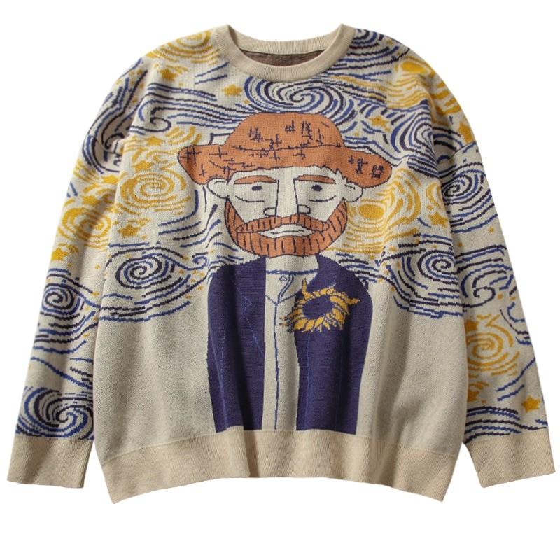 Egirl Eboy Harajuku Vintage Cartoon print Sweater 45